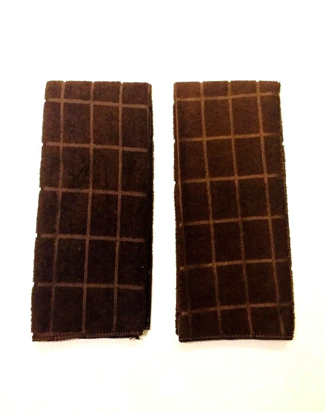 Kitchen Dish Hand Towels Solid Dark Brown Set of 2 New 15 x