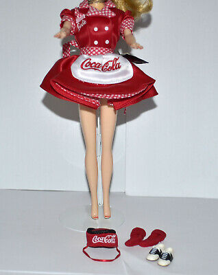VINTAGE BARBIE COCA COLA  CAR HOP WAITRESS RED DRESS OUTFIT, SHOES, SOCKS, &HAT