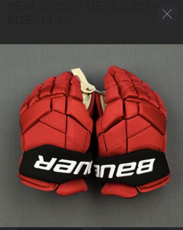 Game Worn/Used Bauer 2S Pro Hockey Gloves - Nikita Gusev