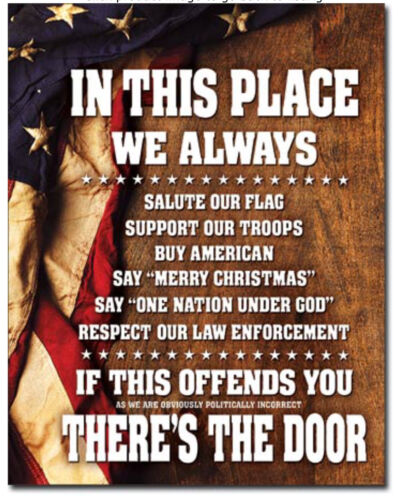 In this place Metal tin sign support military USA home garage Wall decor new