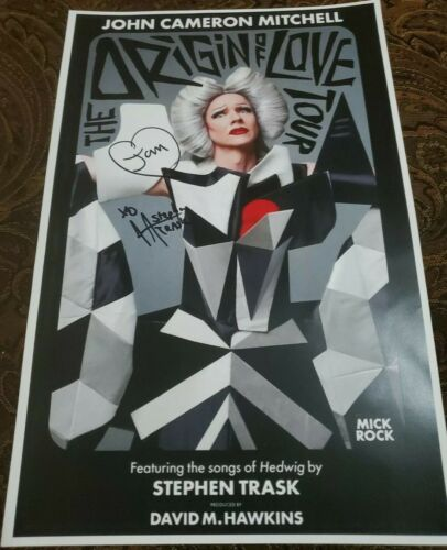 John Cameron Mitchell Stephen Trask Signed The Origin Of Love Tour Poster 11x17 - $89.99