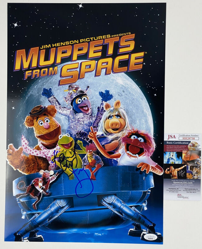 STEVE WHITMIRE signed 12x18 Movie Poster MUPPET's from SPACE KERMIT FROG JSA
