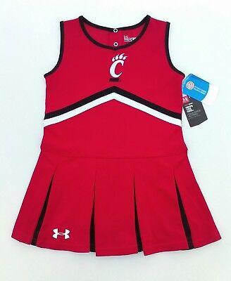 ee4e3b0b16 UC CINCINNATI BEARCATS UNDER ARMOUR Cheerleader Outfit Jersey Shirt YOUTH  Size 6