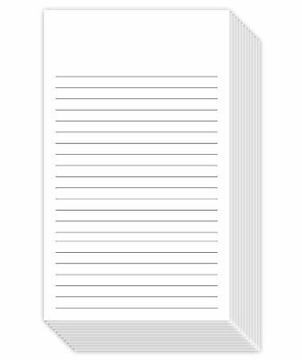 White Ruled Vertical Index Note Cards 3 X 5 Inches 300 Sheets Per Pack