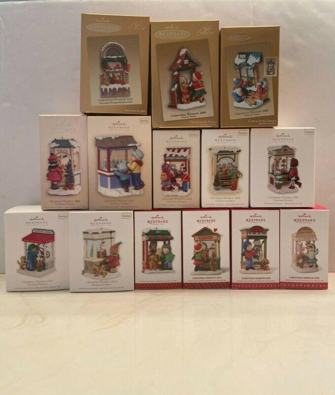 Hallmark Keepsake Ornament Christmas Window (2003-2016) Set (Lot of 15)