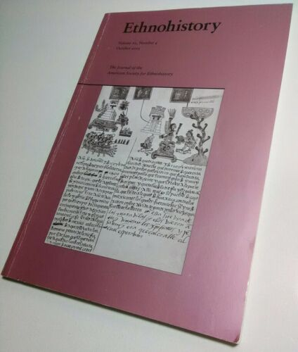 Ethnohistory Journal Vol 62 3 Oct. 2015 American Society Anthropology Paperback - $5.76
