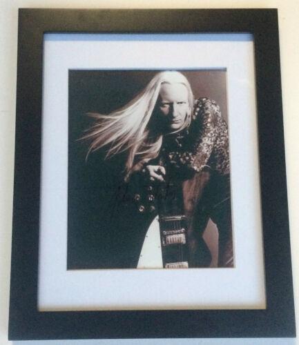 PSA/DNA Step Back JOHNNY WINTER Signed Autographed FRAMED Photo REST IN PEACE