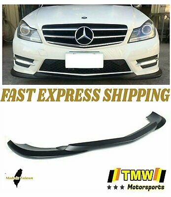 Matte Black GH Front Bumper Lip 3PC Kit for Mercedes Benz C-Class W204 LCI 12-13