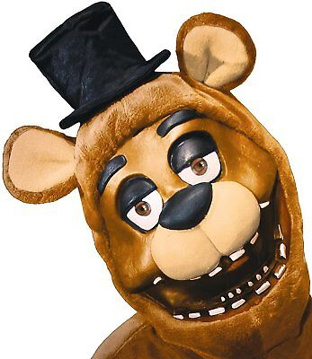 Five Nights at Freddy's Freddy Costume 3/4 Mask Adult Standard - Five Nights At Freddy's 4 Halloween