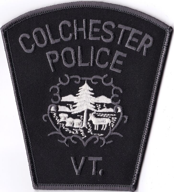 Colchester Police Vermont subdued patch NEW   ***LAST in STOCK***