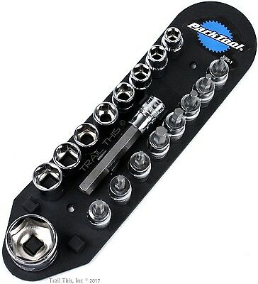"Park Tool SBS-1 Bicycle Torque Wrench Socket & Bit Set 3/8"" Drive MTB Road"