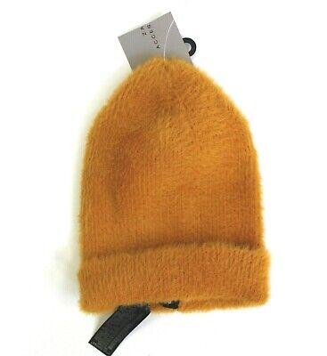 Zara Accessories Women's Ribbed Stretch Beanie Size M Mustard