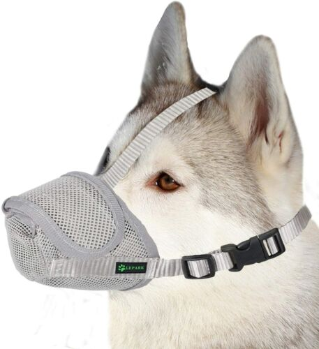 Dog Muzzle Mesh Mask with Velcr for Small, Medium and Large Dogs, Anti Biting