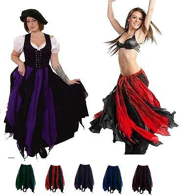RENAISSANCE COSTUME MEDIEVAL DRESS-UP BELLYDANCE FAIRY TRIBAL COTTON PETAL SKIRT (Fairy Renaissance Costumes)