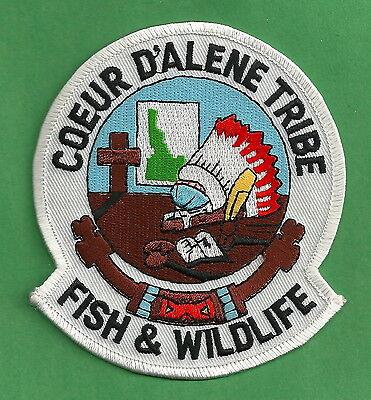 COEUR D'ALENE IDAHO TRIBAL FISH & WILDLIFE ENFORCEMENT POLICE PATCH