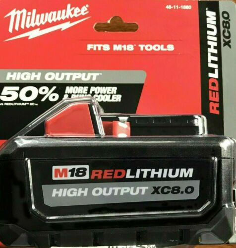 NEW Milwaukee M18 Lithium-Ion HIGH OUTPUT XC 8.0Ah Battery  48-11-1880