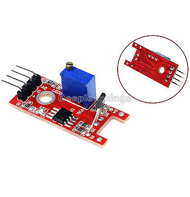 5pcs Hall Magnetic Standard Linear Module For Arduino Avr Pic
