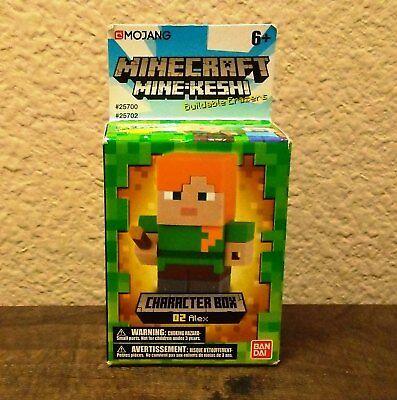 Mine-Keshi Minecraft Alex Character Box - Bandai - RARE HTF Minecraft - Minecraft Erasers