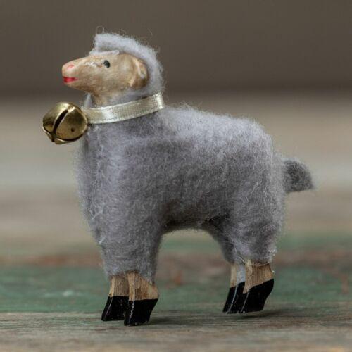 "Ragon House Primitive 2"" Grey German Sheep Figurine"