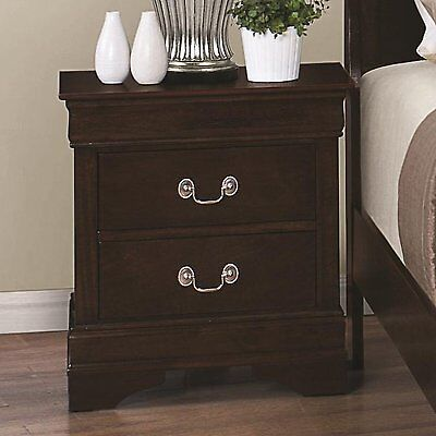 Louis Philippe Two Drawers Night Stand Living Table Bedside Bedroom Furniture