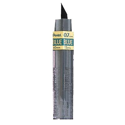 Ppb-7 Pentel Colored Lead Refill For Mechanical Pencils 0.7mm Blue 12 Leads