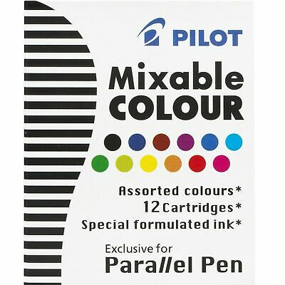 Pilot Parallel Pen Calligraphy Mixable Colour Refill Cartridge 12 Colors
