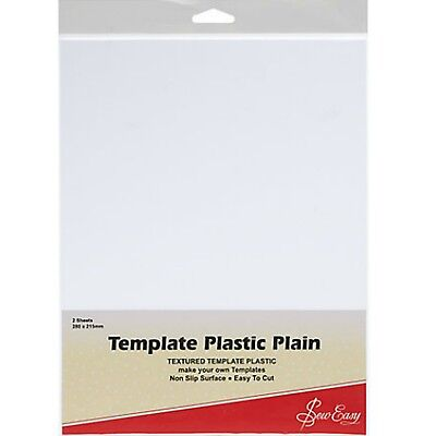 Plain Plastic Template Sheets Pk 2 Non-Slip Easy to Cut  Make Your Own Templates