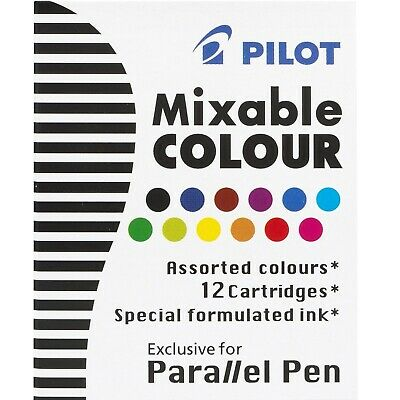 Pilot Parallel Calligraphy Mixable Colour Refill Cartridge 2 Packs Of 12 Colors