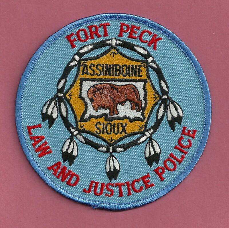 FORT PECK ASSINIBOINE SIOUX MONTANA TRIBAL POLICE SHOULDER PATCH
