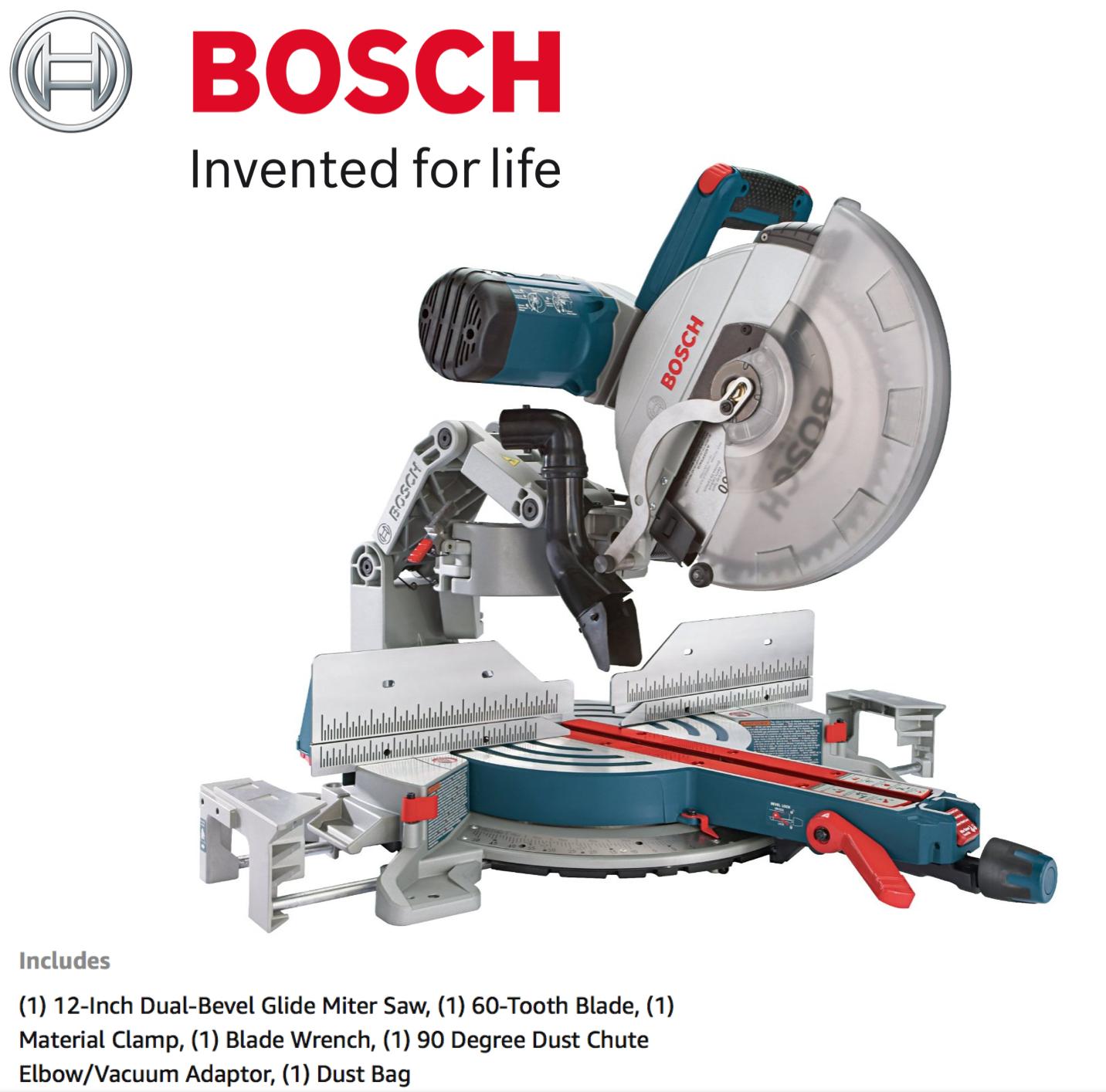 Bosch Compound Miter Saw GCM12SD - 120-Volt, 12-Inch Dual Be