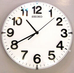 SEIKO 8 ROUND WALL CLOCK WITH QUIET SWEEP -GREAT FOR SOFFIT AREA  QXA656WLH