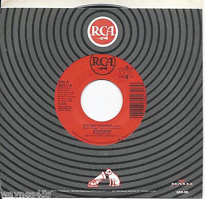 JEFFERSON STARSHIP * 45 * It's Not Enough * 1989 #12 *USA CLEAN RCA ORIGINAL RCA