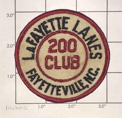 Lafayette Lanes 200 Club Patch - Bowling - Fayetteville,