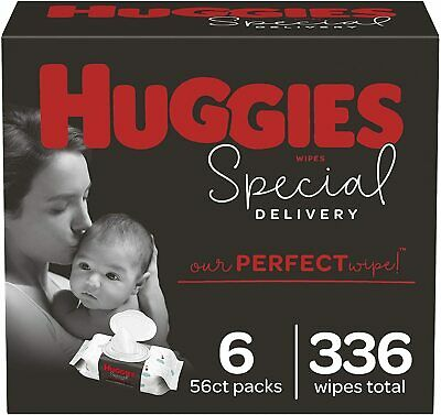 Huggies Special Delivery Hypoallergenic Baby Wipes, Unscented, (336 Wipes Total)