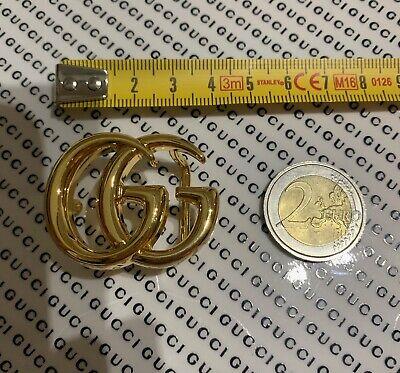 FIBBIA ORIGINALE GUCCI ORO LUCIDO BABY MARMONT PER CINTURA BUCKLE GOLD FOR BELT