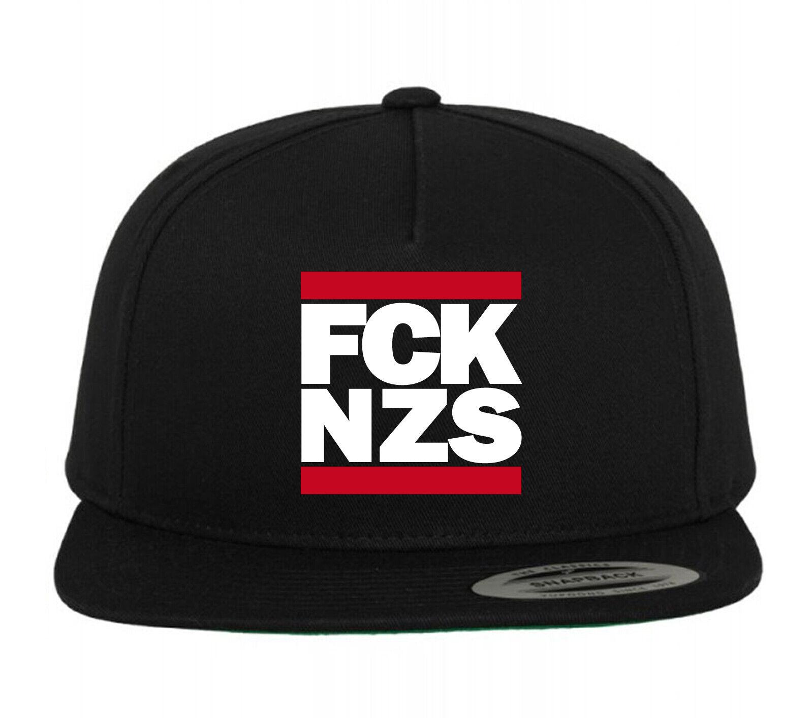 FCK NZS Snapback Mütze schwarz, aus 100% Baumwolle