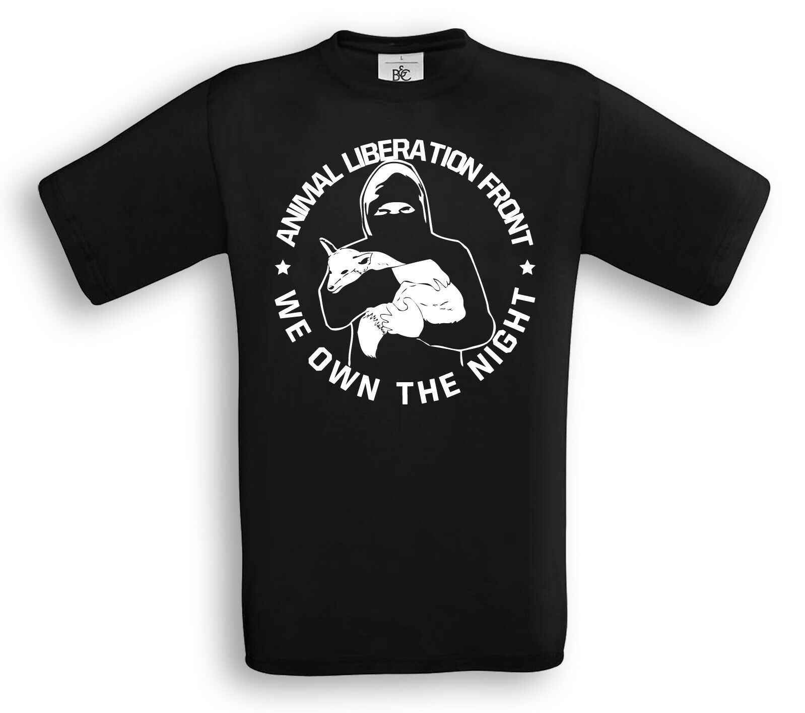 ANIMAL LIBERATION I WE OWN THE NIGHT T-Shirt Vegan Tierrecht Tierbefreiung