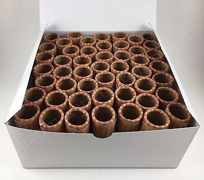 100ct Preformed Quarter Tubes Paper Coin Wrapper 25 Cent Quarters Shotgun Rolls - Paper Coin Tubes