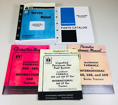International Farmall 560 Lp Gas Tractor Service Operator Parts Manual Set