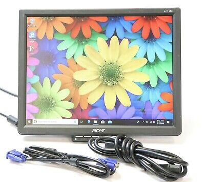 "Acer AL1516 A 15"" 1024 x 768 Flat Panel VGA LCD Monitor with Cables - No Stand"