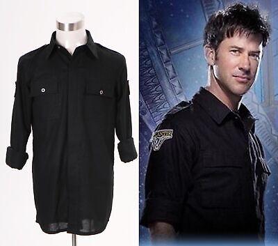 Stargate Atlantis John Sheppard Costume Uniform Black Shirt Halloween Daily Show - Sheppard Costume