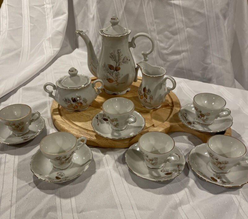 Gold Trim Tea Set