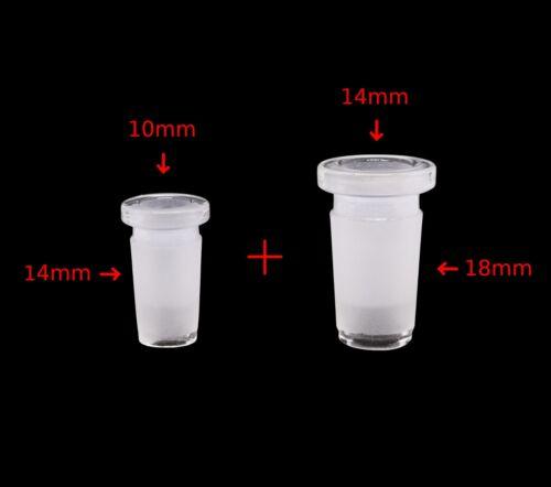 18mm Male to 14mm Female + 14mm Male to 10mm Female | Glass Expander Reducer