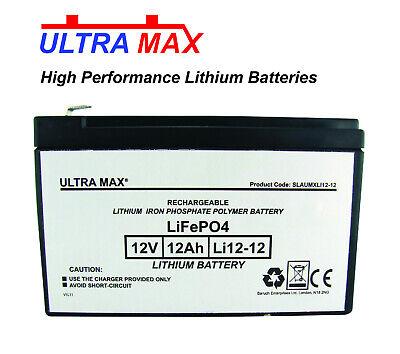 ULTRAMAX Litio 12 Voltios 12ah Batería - Célula Para Niños Eléctrico Juguete...