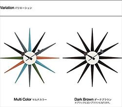 sunburst clock Ripurodakuto designer George Nelson furniture Mu ottostyle.jp new