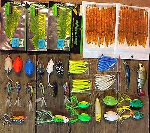 100+ fishing lures baits crankbaits frogs bass crappie walleye