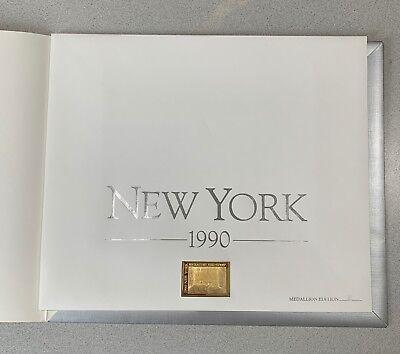 1990 NEW YORK - State Duck Stamp Print  *SEEREY-LESTER** MEDALLION Ed. w/ Stamp!