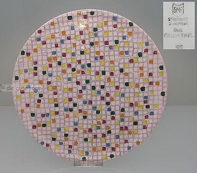 SMF SCHRAMBERG -- TORTENPLATTE Dekor COCKTAIL ø 31 cm -- TOP DESIGN + ZUSTAND