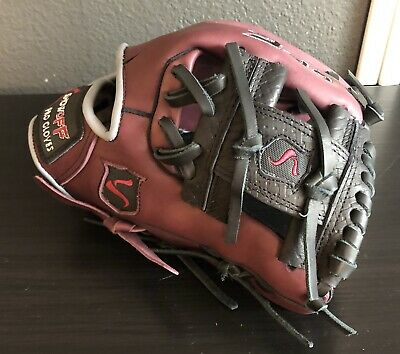 Black Burgundy Showoff Baseball Infielder Glove Size 11.5 Best