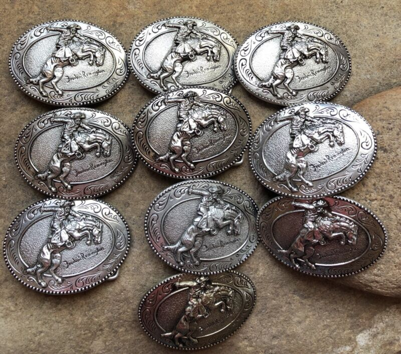 Frederic Remington Art Museum The Bronco Buster Belt Buckle, LOT Of 10 Buckles